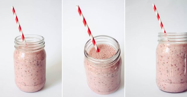 Strawberry, Banana & Flax Seed Smoothie