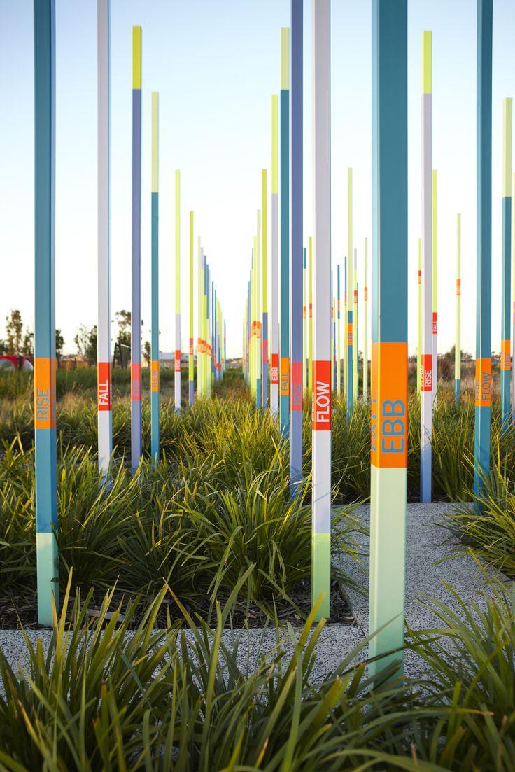 Toomuc Creek wetland, Pakenham, Victoria en Australie by Fitzgerald Frisby Landscape Architecture