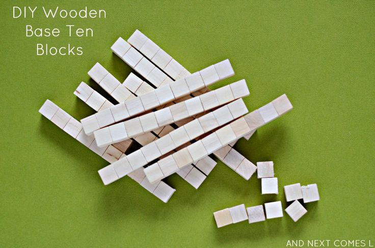 Base en bois bricolage dix blocs pour l'apprentissage des mathématiques à partir Et vient ensuite L