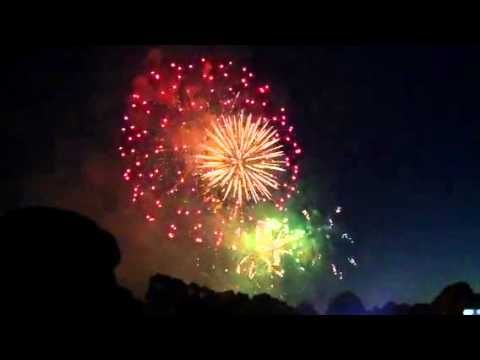 New Year Fireworks, Yarra Park, Melbourne 2013