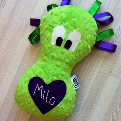 Green and purple Cuddle Monster from www.cuddlemonstercrafts.co.uk