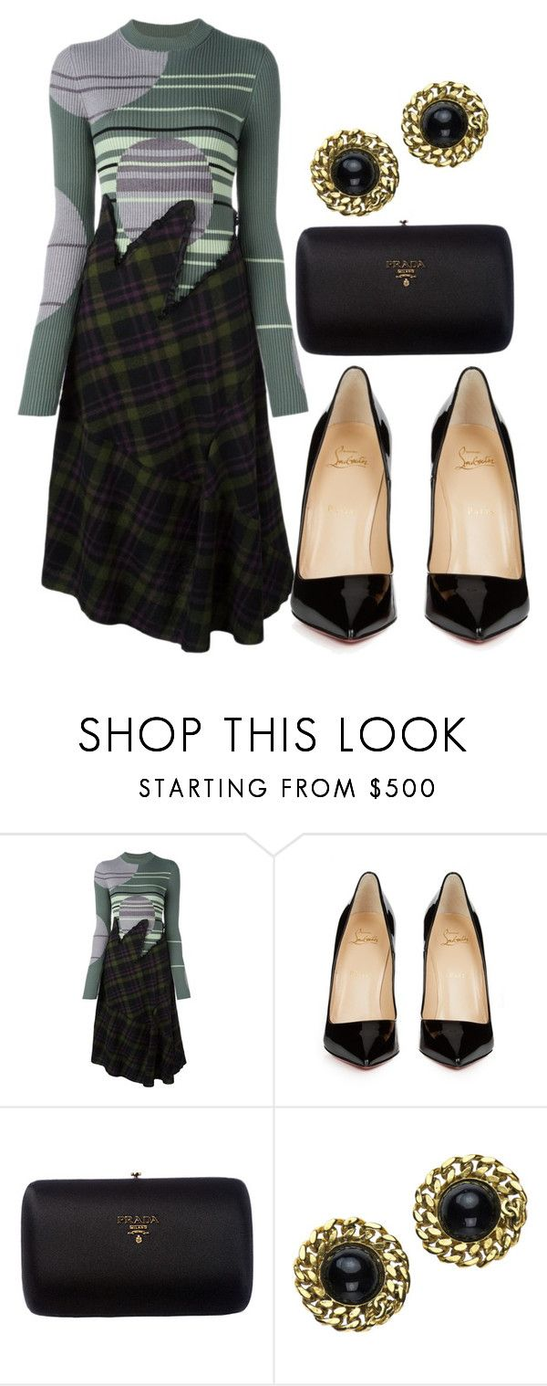 """""""Untitled #293"""" by racita on Polyvore featuring Maison Margiela, Christian Louboutin, Prada and Chanel"""