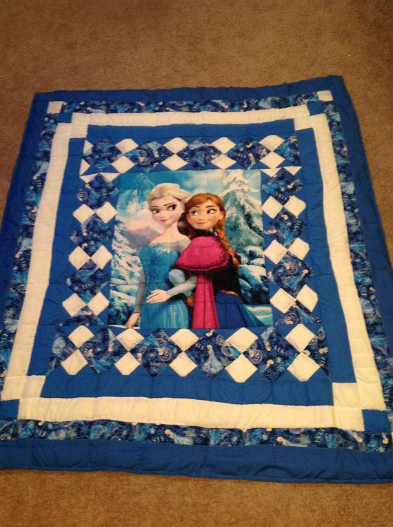 Baby Quilts Handmade Disney Frozen Quilt Featuring The Ice Princess Beautiful