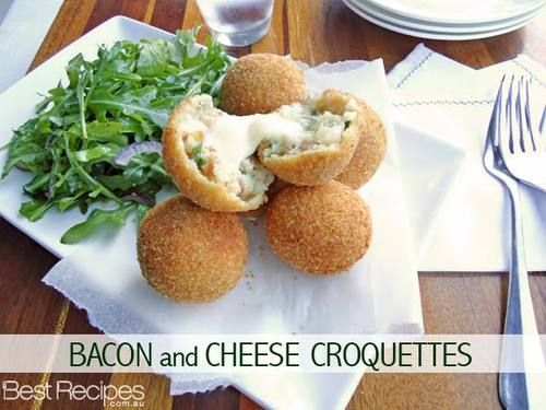 Oh, dear me. YUM! Bacon and cheese croquettes. Fancy some for lunch?