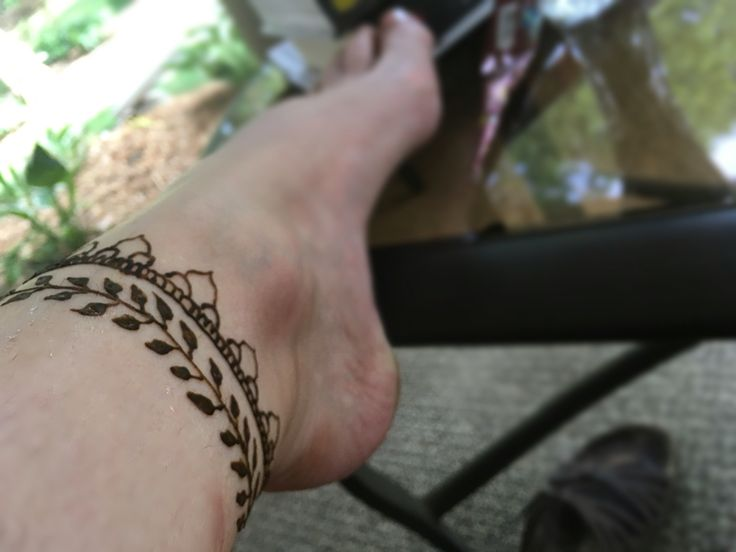 Simple ankle henna foot easy pretty