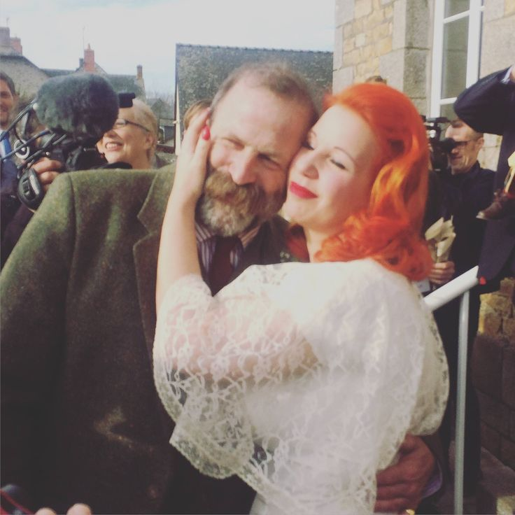 One of our beautiful brides Angel Adoree from The Vintage Patisserie at her amazing new home in France Hair & make up Lipstick and Curls http://www.lipstickandcurls.net/services/bridal-styling/