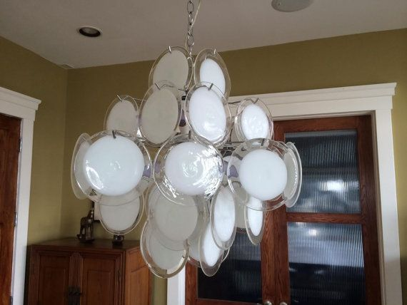 Disc# Murano #glass-milk white and transparent #venini  #spare-parts-murano-chandeliers-partssold 31/10/2014