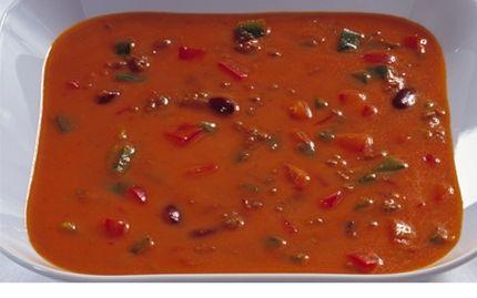 Tomatsuppe med oksekød
