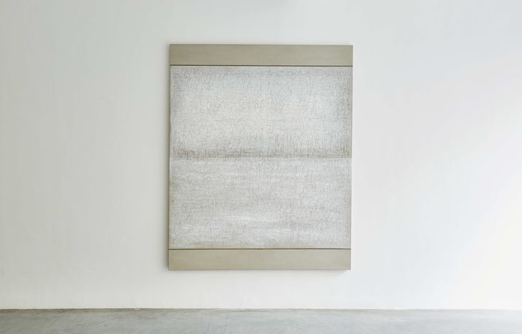 Richard Höglund, Sea Picture XXVI, 2016, silver, tin, lead and oil on linen prepared with bone pulver and marble dust, 226 x 183 cm. Ronchini Gallery, London.