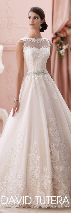 The David Tutera for Mon Cheri Spring 2015 Wedding Dress Collection - Style No. 115244 Seraphina   davidtuteraformoncheri.com  #weddingdresses