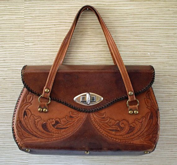 22 best Vintage Tooled Leather Handbags & Belts images on ...