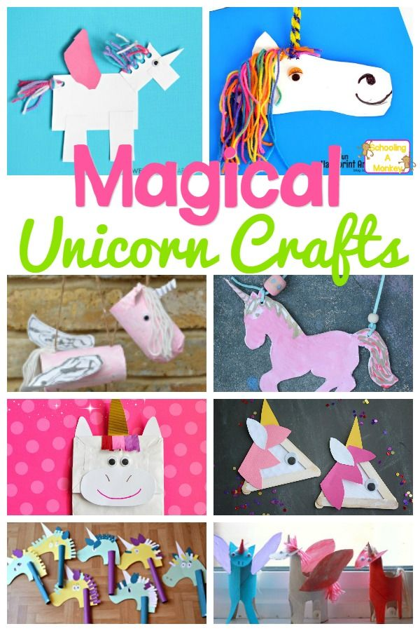 Magical And Colorful Unicorn Crafts Activities For Kids