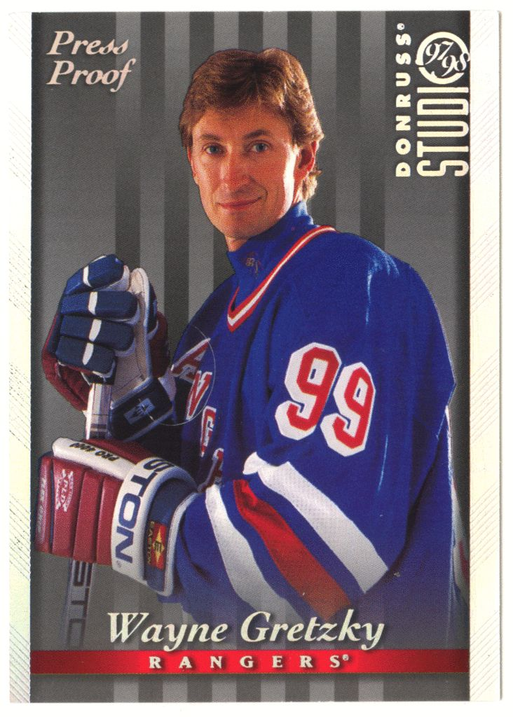 Wayne Gretzky # 1 - 1997-98 Donruss Studio Hockey Press Proof