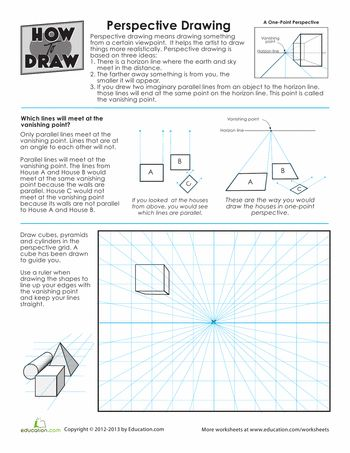 How to Draw - Tutorial: Lessons in Perspective for Comic / Manga Panel Design Reference
