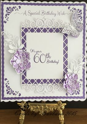 Phills' Crafty Place: Royal Purple and White - Special Birthday Wish