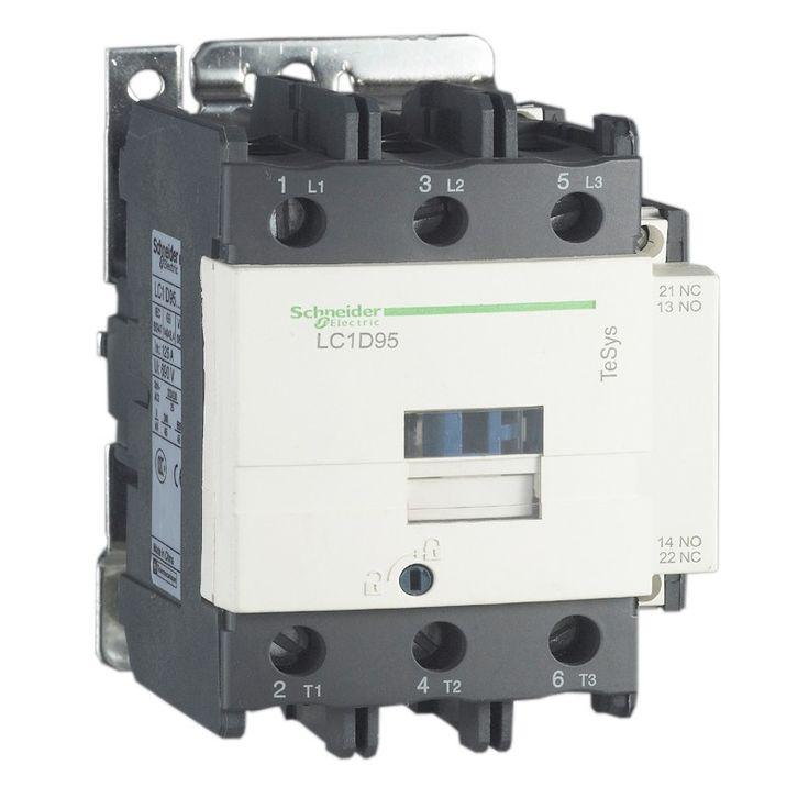 Schneider Telemecanique LC1-D95M7.  - Koneksi Standart - Kontaktor 3 kutub 45kW 95A 1NO 1NC - Tegangan kontrol koil: - Kode ** 24V= B7 42V=D7 48V=E7 110V=F7 220V=M7 380V=Q7 - Harga Per Each.  http://kliklistrik.com/contactor/414-schneider-telemecanique-lc1-d95m7.html  #schneider #contactor #alatlistrik