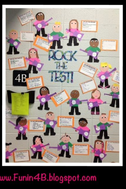Fun in Room 4B: Rock the Test!  We are so making these!! OMG!! I love this!! Such an awesome project to do with the kids and way to relax from all the studying, but still thinking and preparing at the same time. A must remember for when I get my classroom!! :)