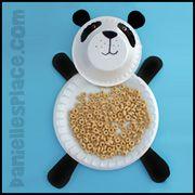 Panda Bear Paper Plate Craft from www.daniellesplace.com