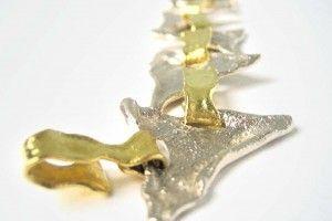 "Kollektion Camelot - Armband ""Avalon"" aus Sterling Silber (925) und 750er Gelb Gold"