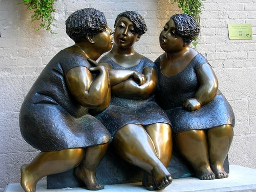 Rose-Aimee Belanger, Gossip, 2003  Le Chucoteuses...sounds better in french! See it in Old Montreal