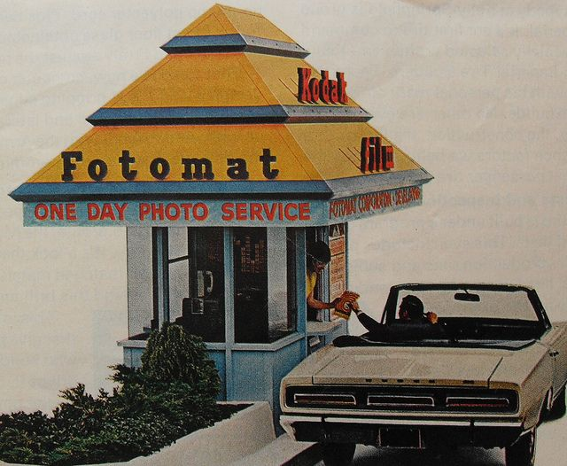 Fotomat - it was a place to drop off film to be developed.
