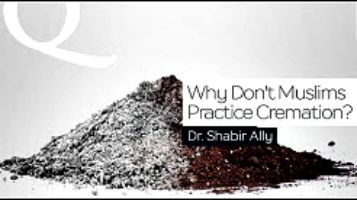 """Anonymous asks, """"What is cremation and what is Islam's position on it?""""  Dr. Shabir Ally answers."""