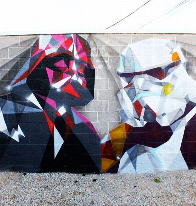 DarkSide: War Street, Darth Vader, Street Art Utopia, Storms Troopers, Stars War Art, Graffiti, Star Wars, Starwars, Streetart
