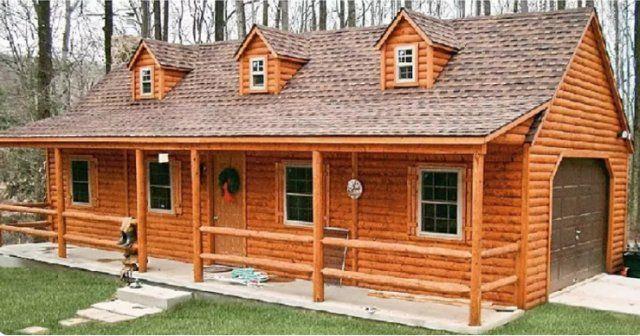 Log Cabin Kits Like This Can Be More Affordable Cozy Homes Life Modular Log Cabin Modular Log Homes Log Cabin Kits