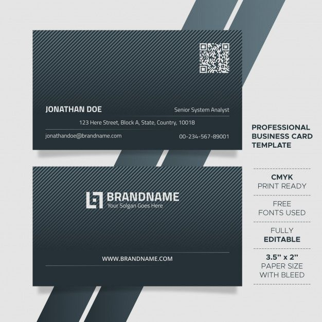Modern Unique Business Card Template Business Card Template Unique Business Cards Buisness Cards