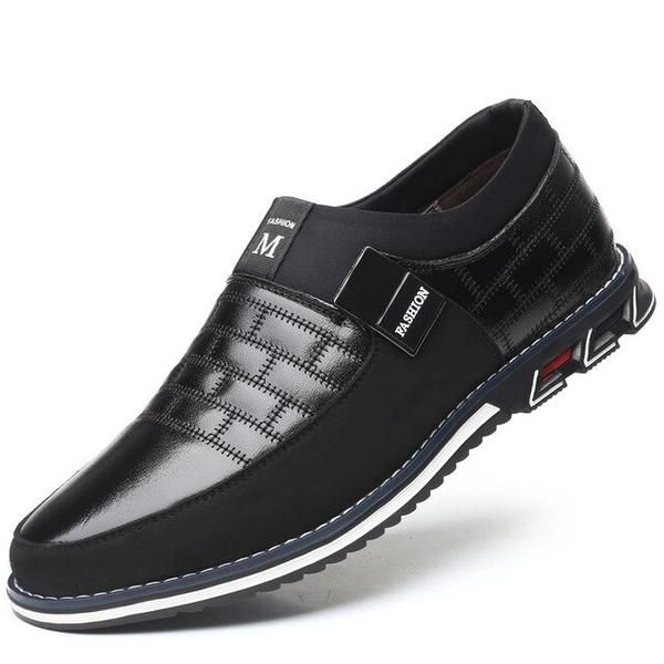 Mens Comfort Loafers Leather Spring//Fall Comfort Loafers /& Slip-Ons Walking Shoes Wearable Black//Blue//White