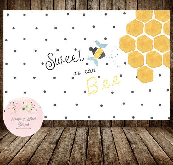 Digital Sweet As Can Bee Backdrop, Bee Birthday, Bee Baby Shower, Bee Birthday Party, Bumble Bee Baby Shower, Bumble Bee Birthday