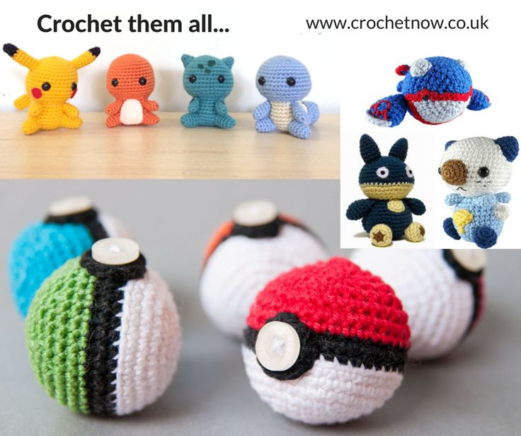 Crochet them all! With the bizarre Pokemon Go craze that's hit the UK recently, we thought you'd like a few pokemon patterns you can make for any fans in your family, or just for yourself if you've got addicted to the latest online gaming phenomenon. You're going to need Pokemon Balls if you