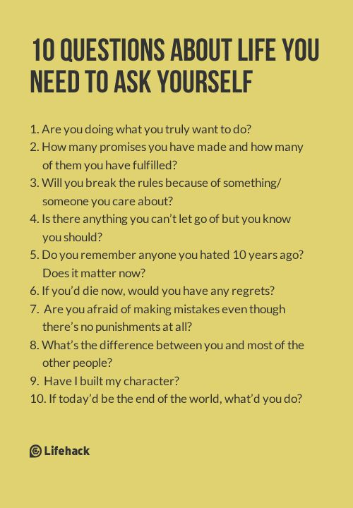 10 Questions About Life You Need to Ask Yourself | Best of ...