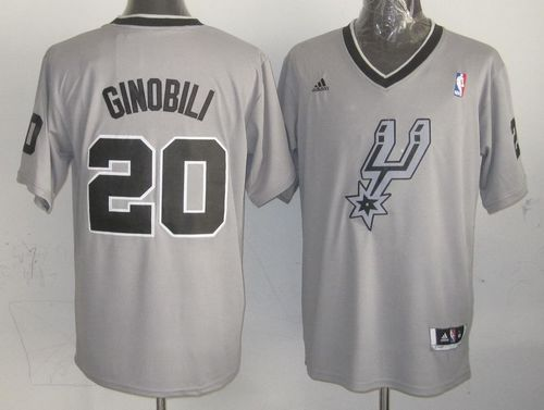 online store 98226 f8d8a Spurs #20 Manu Ginobili Grey 2013 Christmas Day Swingman ...