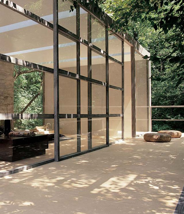 Sliding glass wall