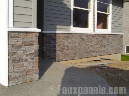 Norwich Fake Stone Siding Photos | Home Renovation Ideas-Attaching the garage to the house...possiblities