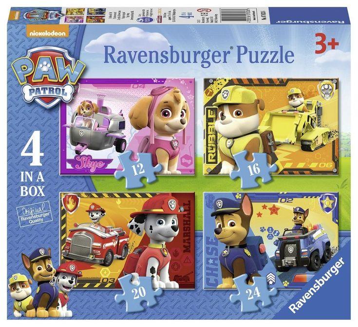 Paw Patrol Jigsaw Puzzle Cardboard Educational Interactive Children Kid Play Set