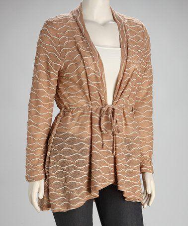 Mocha Plus-Size Cardigan #zulily #zulilyfinds