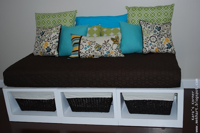 Kara's Korner: Big Project RevealIdeas, Storage Daybeds, Diy Furniture, Diy Daybeds, Cribs Mattress, Reading Nooks, Storage Beds, Diy Projects, Room