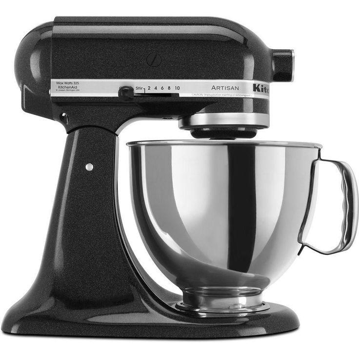 KitchenAid KSM150PSCV Caviar 5-quart Artisan Tilt-head Stand Mixer with $30 Rebate (KSM150PSCV), Black (Metal)