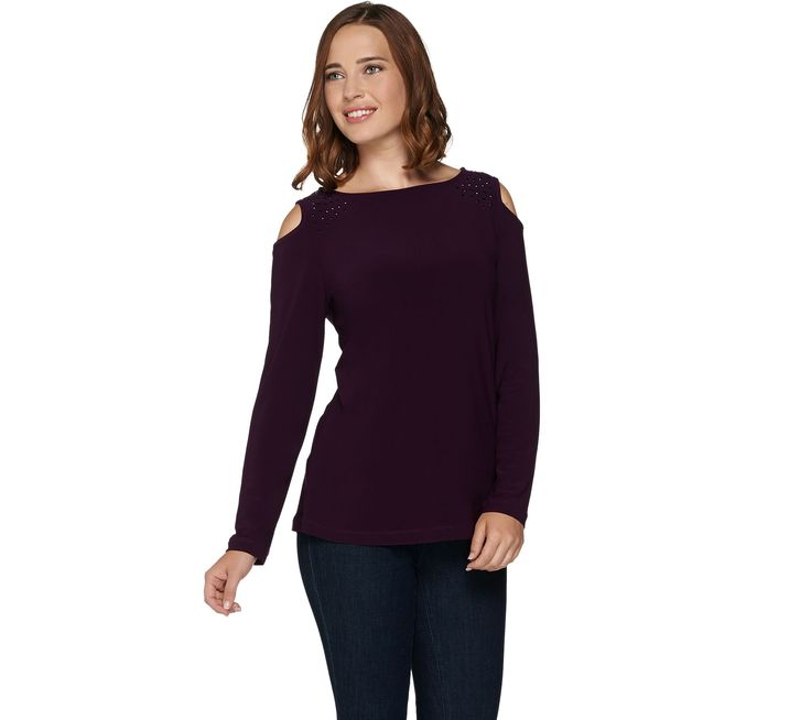 love the eggplant color and beautiful beading around shoulder