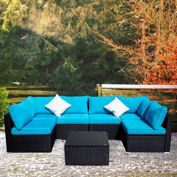 Ainfox Outdoor Patio Furniture On, Sectional Patio Furniture Clearance