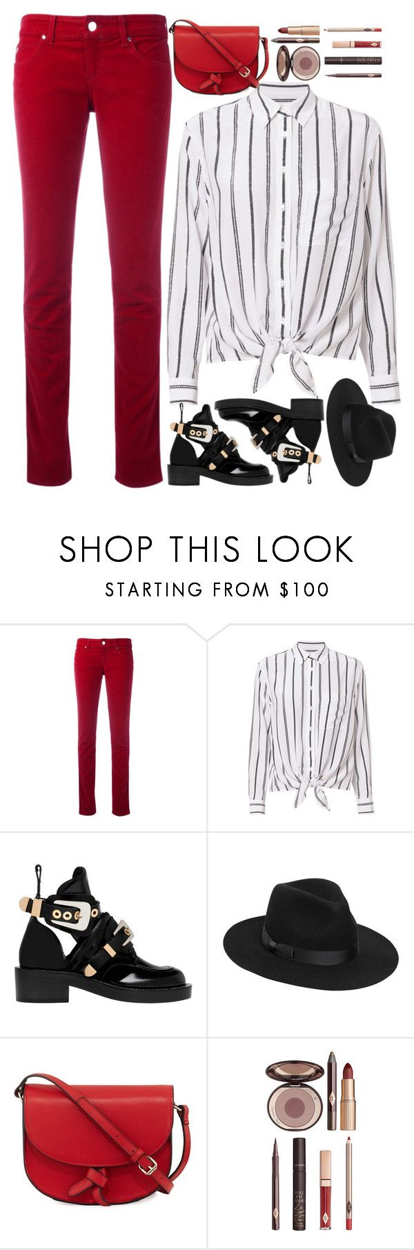 """""""street style"""" by ecem1 ❤ liked on Polyvore featuring Armani Jeans, Equipment, Balenciaga, Lack of Color, KC Jagger and Charlotte Tilbury"""