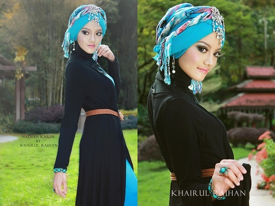 I couldn't pull of this hijab style but it looks great on her!  Inspiration (by Nadiah Karim) http://lookbook.nu/look/2820869-inspiration