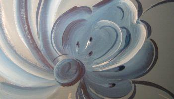Tutorial on painting freehand Telemark Rosemaling for Scandinavian festival