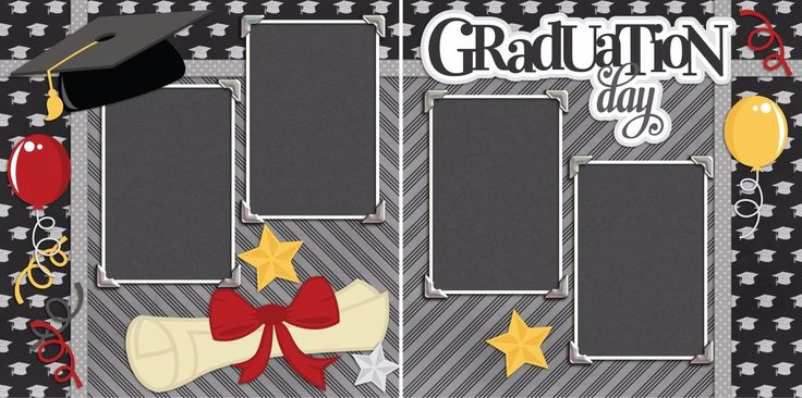 GRADUATION DAY - Premade Scrapbook Pages - EZ Layout 2133 | eBay