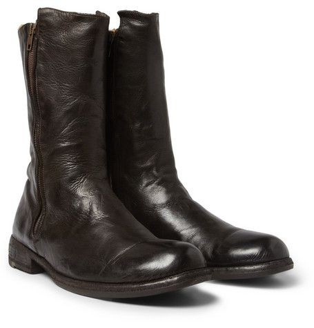 Officine Creative Shearling Lined Leather Boot