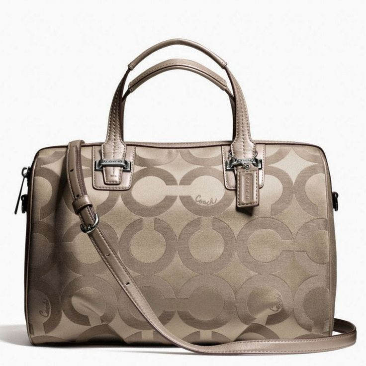 Tas Coach Taylor Sinature satchel -flint  Impor Removable Strap Bahu Zipper Penutupan Batin Zip dan Slide kantong Op art kain saten dengan t...