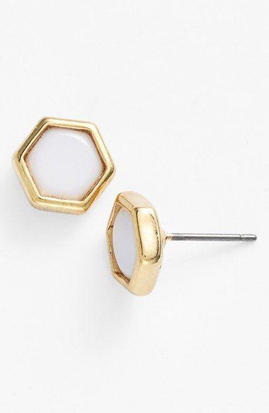 Lauren Ralph Lauren Hexagon Stud Earrings available at #Nordstrom