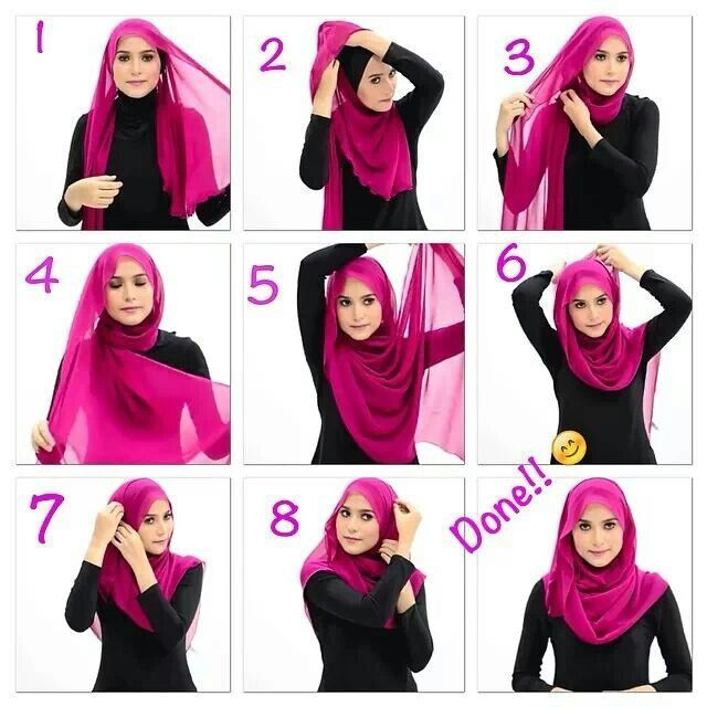 Cute Summer Inspired Hijab Tutorial Hoofddoeken